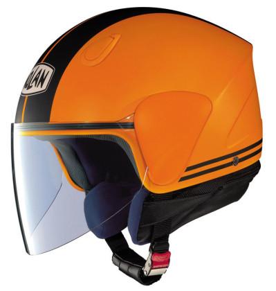Opvallende oranje helm