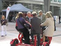 Europarlementariërs op e-bike
