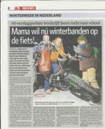 Winterfietsband in de picture