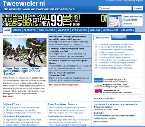 Nieuwe website Tweewieler online
