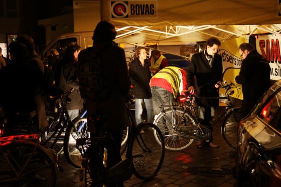 Fietscity Jan Kooij en Simson werken mee aan nachtelijke reparatieactie Nijmegen