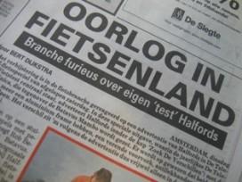Halfords-advertentie in Telegraaf wekt beroering