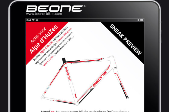 BeOne Alpe d'HuZes actie met limited edition