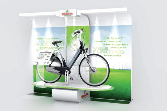 Nieuwe E-bike winkeldisplay van Sparta