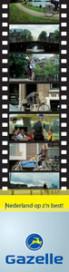 Gazelle met commercials op TV