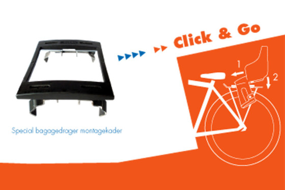 Bobike Click & Go voor alle bagagedragers