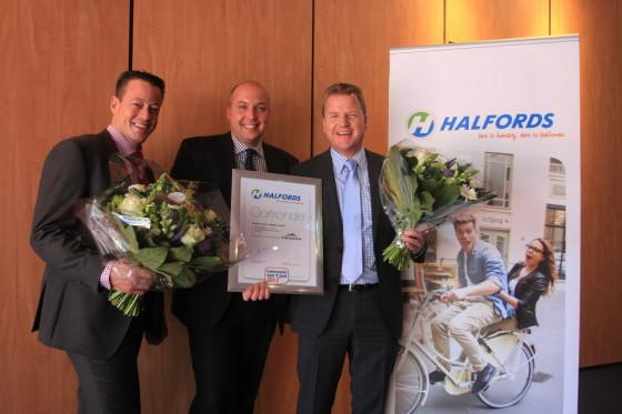 Halfords roept Vredestein uit tot Leverancier van het Jaar 2012