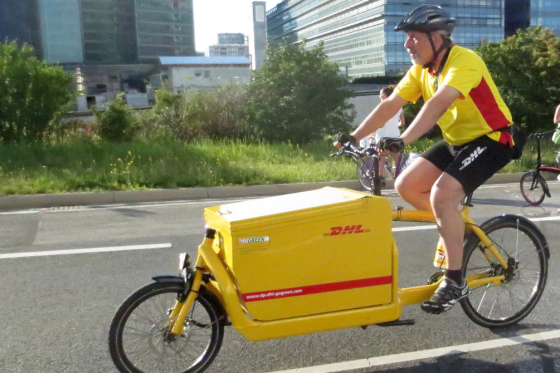 DHL breidt bezorging per fiets uit