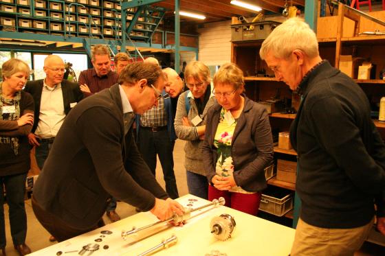 Docenten Fietsersbond bezoeken fietsfabriek Nijland