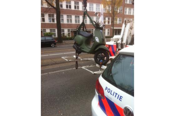 Gestolen scooter met gps-volgsysteem teruggevonden