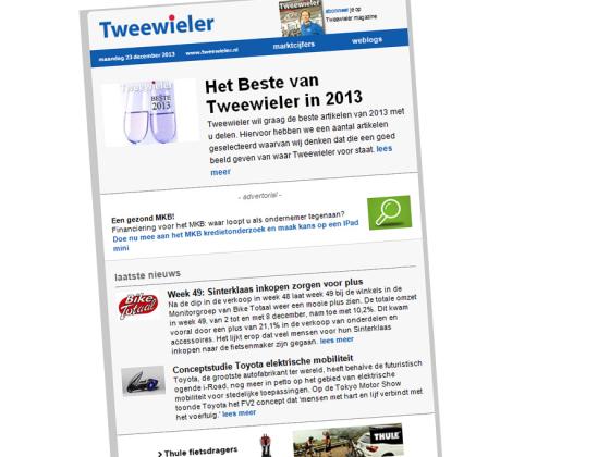 Grote online groei voor Tweewieler in 2013