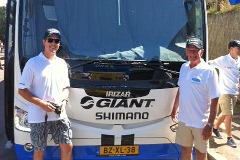 Prijswinnaar Unigarant bezoekt Tour de France