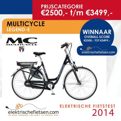 Multicycle winnaar e-biketest 2014