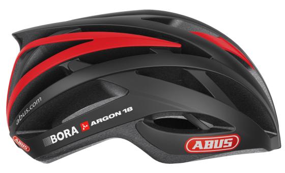 ABUS helmsponsor wielerteam Bora-Argon 18