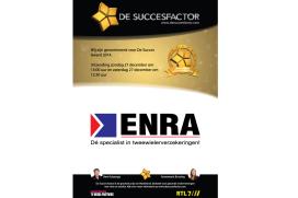 ENRA branchewinnaar bij De Succesfactor