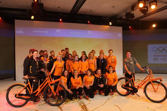 Video: Gazelle fietsen voor Nederlandse sporters