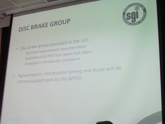 Voortgang in UCI-goedkeuring wielen en zadels