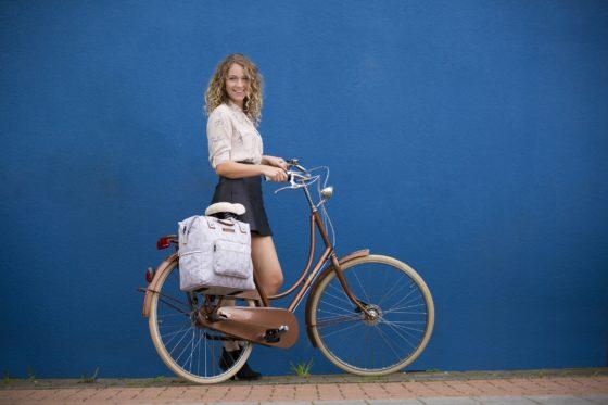 New Looxs Folla fietstas met bladeren