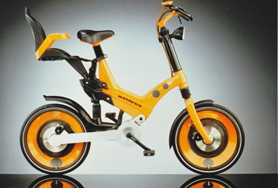 De Fiets van de Toekomst in 1994: een project van Chriet Titulaer samen met Batavus. Het is een concept bike. Foto Batavus