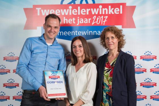 In de 2017-editie van de Tweewielerwinkel van het Jaar-verkiezing was Bike Totaal dekkers Tweewielers Gemeentewinnaar. Foto Koos Groenewold
