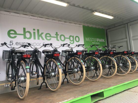 E-bike-to-Go fietsdeelsysteem Stalling Westerpark. Foto E-bike to go