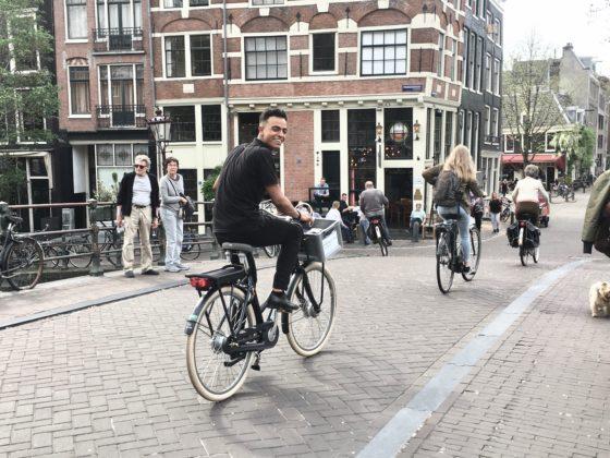 Voor E-bike to go wordt de elektrische transportfiets Cortina E-U5 gebruikt. Foto E-bike tot go