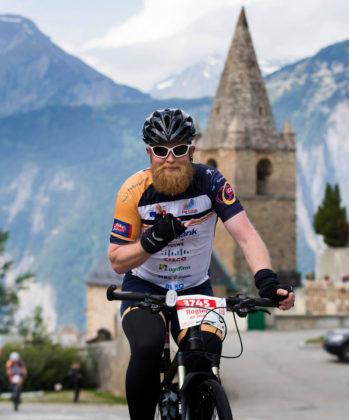 Rogier de Jong in actie. Foto Bike Totaal