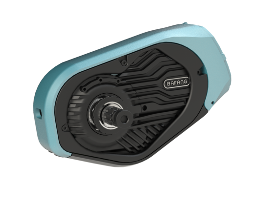 Bafang zet een nieuwe standaard door het lage gewicht en een behuizing van een sterke metaallegering (in diverse kleuren verkrijgbaar) en de mogelijkheid voor e-bike producenten om de motorcover te laten customizen naar eigen wens. Foto Bafang