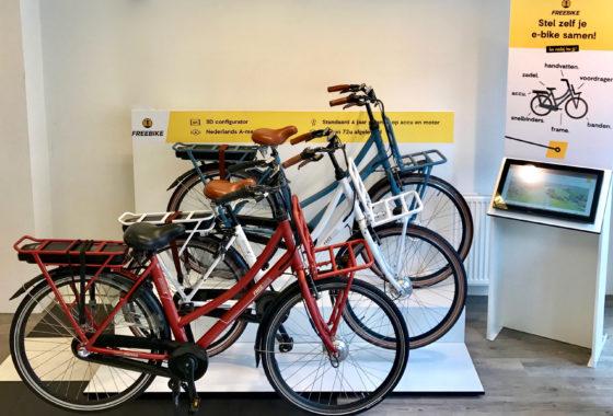 Freebike collectie in de shop-in-shopopstelling. Foto Arnauld Hackmann