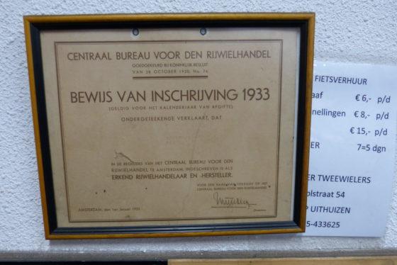 Sinds 1933... Provinciewinnaar Lietmeijer Tweewielers in Uithuizen. Foto redactie Tweewieler