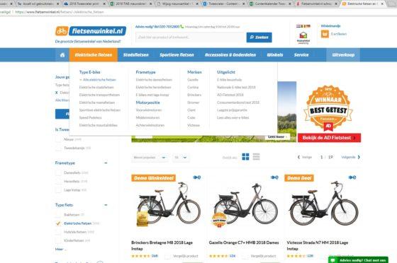 Op Fietsenwinkel.nl zijn Sparta en Batavus niet meer te vinden.