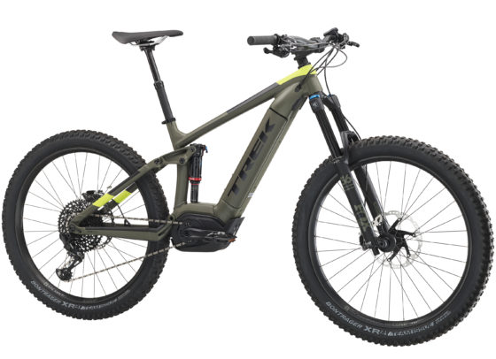 De Powerfly-collectie bestaat uit 3 categorieën: hardtail, full suspension (130 mm) en Long Travel (150 mm). Foto Trek