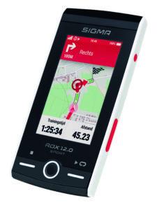 Sigma introduceert de nieuwe ROX 12.0 Sport fietscomputer. Deze GPS-computer biedt naast de bekende trainingsfuncties van de ROX-serie ook een nieuw ontwikkeld, kaartgebaseerd navigatiesysteem. Hiermee is, aldus Sigma, zowel op asfalt als in het terrein de optimale route voor elk trainingsprofiel uit te stippelen.