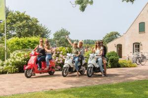 Zomerse avonturen op een elektrische scooter