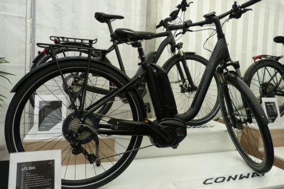 Hartje Conway eTS 500 met Bosch 500W accu. Foto Redactie Tweewieler
