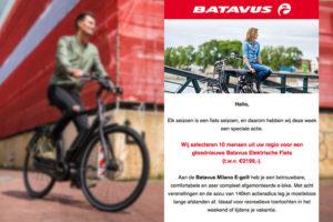 Batavus gebruikt in phishing mail