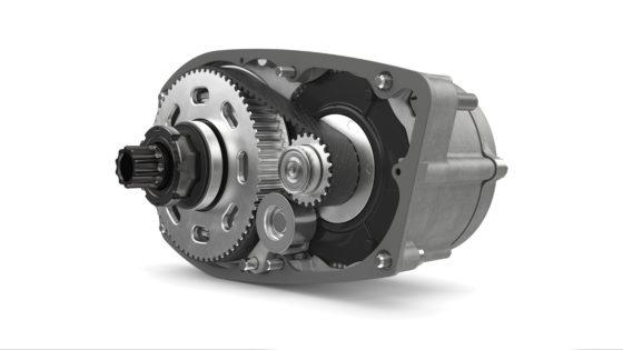 Binnen in de aluminium behuizing van het Brose Drive C systeem vind je de met koolstof versterkte aandrijfriem van Gates, wat zorgt voor een zeer stille motor. Foto's Brose Antriebstechnik GmbH & Co