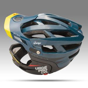 Urge komt met de nieuwe Gringo fietshelm, een all mountain helm die omgebouwd kan worden naar een full face helm.