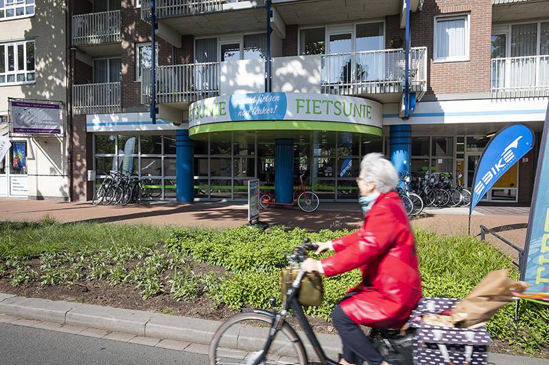 Fietsunie heeft een plek aan de rand van het centrum van Emmen.